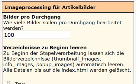 modified eCommerce  - Artikelbilder Stapelverarbeitung (Imageprocessing)