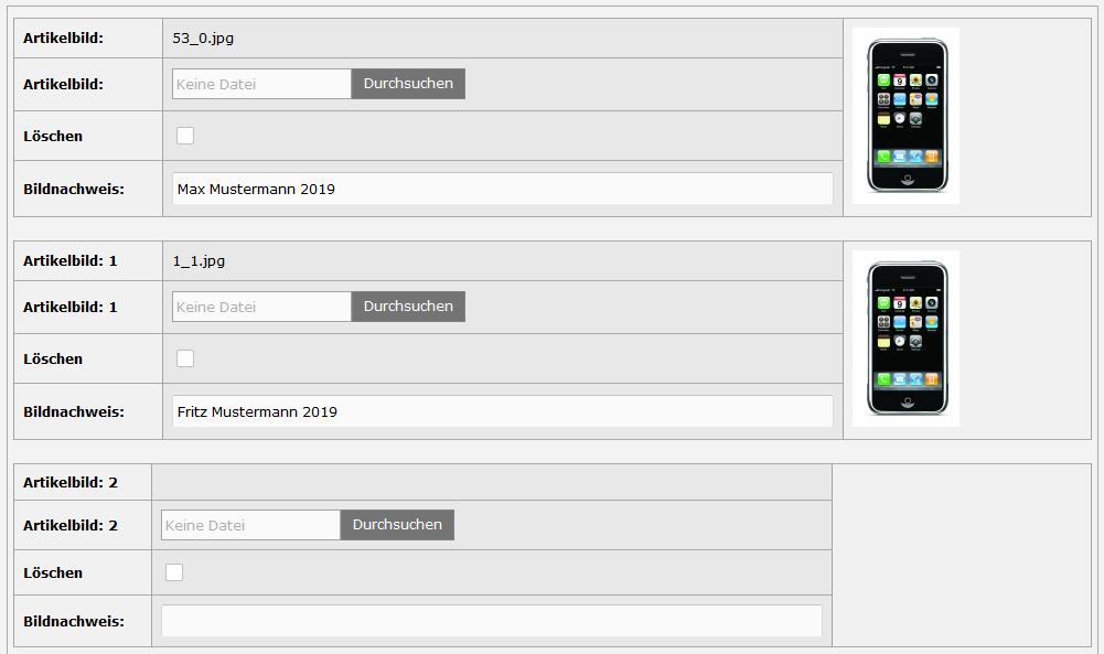 Modified eCommerce - Bildnachweis Adminbereich