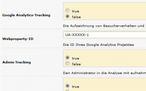 modified Shop Google Analytics Tracking