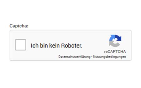 modified eCommerce Google reCAPTCHA