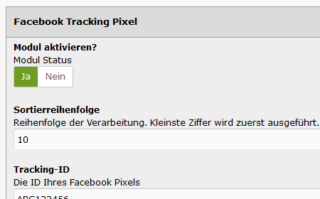 modified eCommerce - Facebook Tracking Pixel
