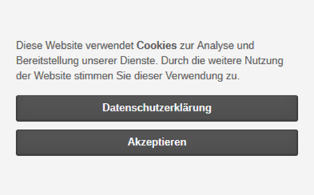 modified eCommerce  - Cookie Hinweis - EU Cookie Info