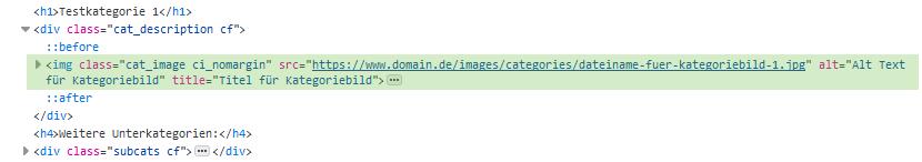 xtc modified - Quellcode Kategorie SEO Bild