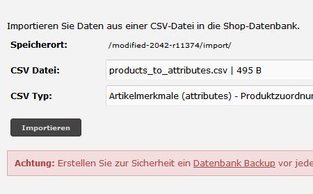 modified eCommerce  - Advanced CSV Import & Export