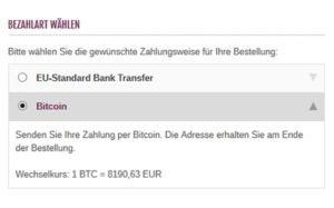 modified Shop - Bitcoin Zahlungsmodul